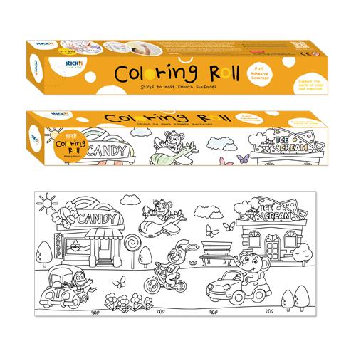 Znalezione obrazy dla zapytania coloring roll stick'n